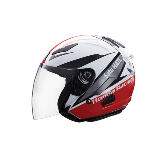 HONDA RACING RED JET HELMET
